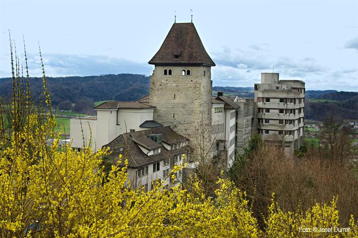 Von der alten Burg ist nur noch der Bergfried erhalten. Aus ...: www.seetal-plus.ch/Burgen_u_Schloesser/Wikon_Marienburg.html