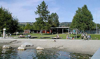 Seebad Baldegg, Baldeggersee, Freibad, Schwimmbecken ...